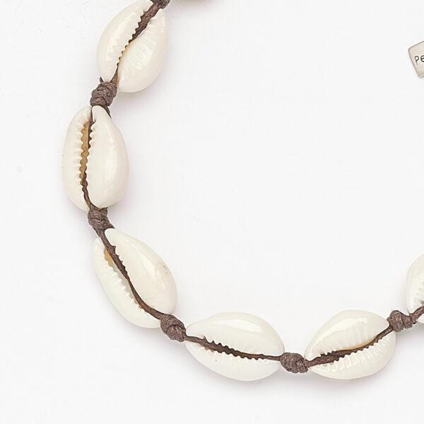 bracelet-coquillage-fil-marron-perle-de-jade