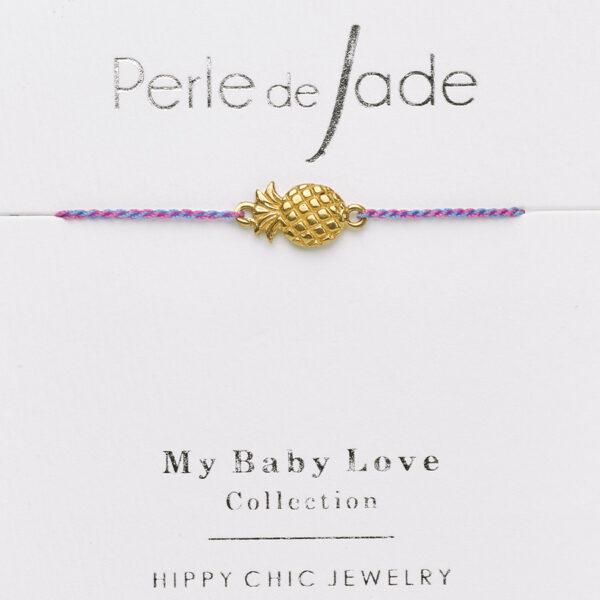 bracelet enfant fil violet Perle de jade