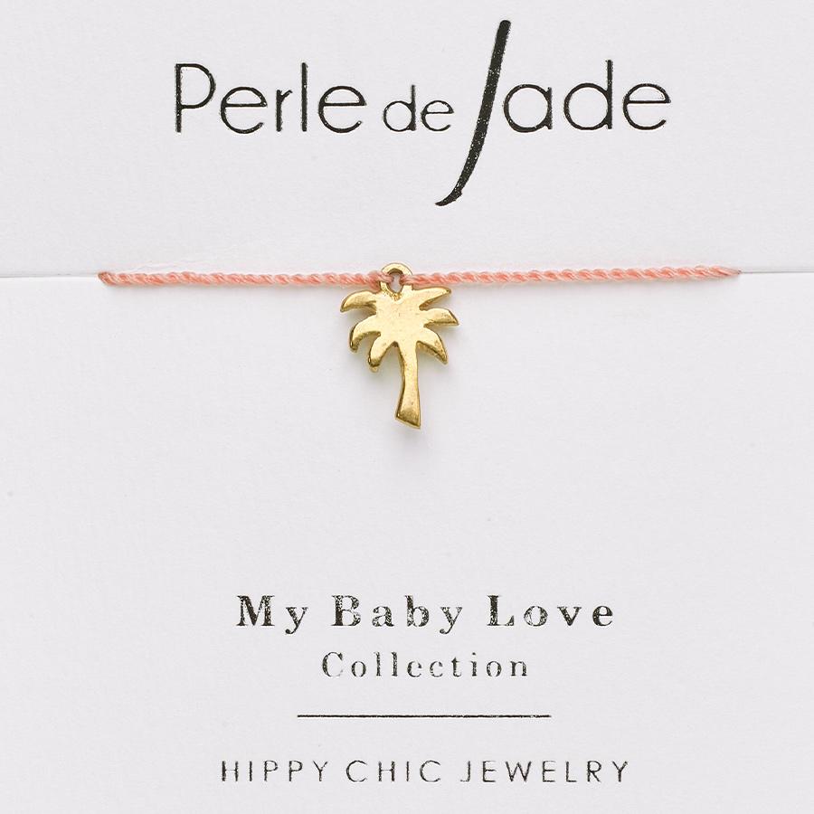 bracelet enfant fil orange charme palmier