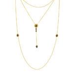 collier stardust trois niveaux vermeil plaque or quartz noir perle de jade retouche 2