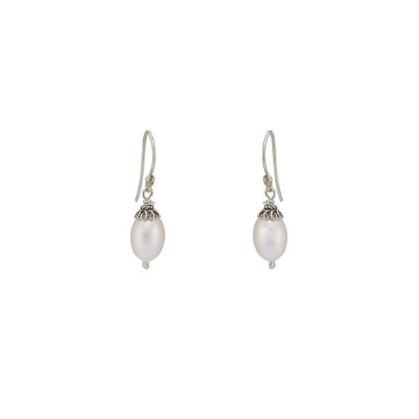 boucle oreilles argent massif perle de culture perle de jade retouche
