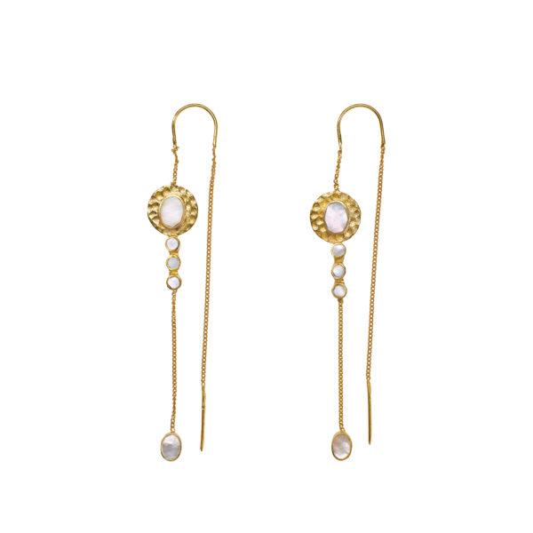 boucles d oreilles stardust nacre vermeil plaque or perle de jade