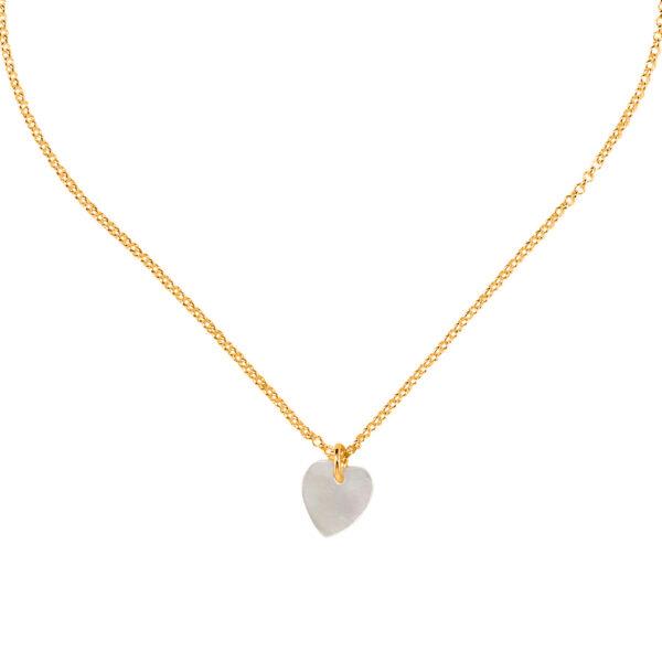 collier enfant pendentif cœur perle de jade
