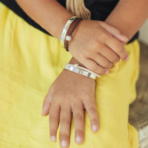 bracelet jonc enfant perle de jade